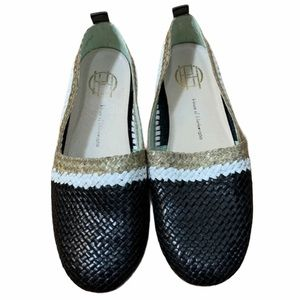 House Of Harlow 1960 Kye Woven Leather Flats